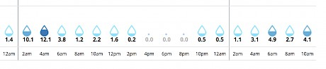 49.5ml of rain is predicted to fall in the Wanganui area tomorrow and on race morning.