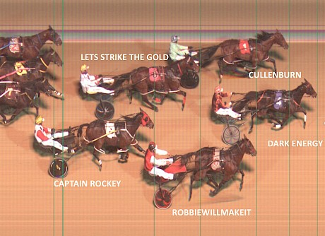 Lets Strike The Gold fights on bravely for a close fourth after doing a power of work at Newcastle.