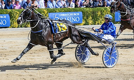 Bettor My Dreamz clears out for an easy win on cup day at Addington. PHOTO: Race Images.