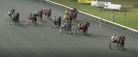 Make Way is doing it easily as he romps clear at Albion Park on Friday night.