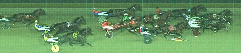 The official photo finish shows just how close it was.