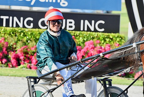 Zachary Butcher is all smiles after landing Hampton Banner a nose winner. PHOTO: Peter Rubery/Race Images.