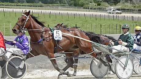 Andre Poutama gives Lindi Lincoln a quiet run at the Pukekohe workouts last Saturday.